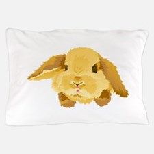Fuzzy Lop Eared Bunny Pillow Case