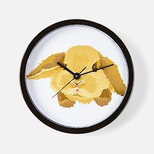 Fuzzy Lop Eared Bunny Wall Clock
