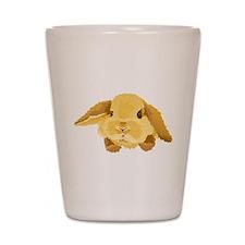 Fuzzy Lop Eared Bunny Shot Glass