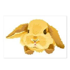 Fuzzy Lop Eared Bunny Postcards (Package of 8)
