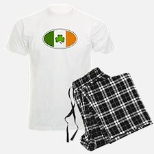 Irish Flag with Shamrock Pajamas