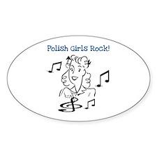 Polish Girls Rock Oval Decal