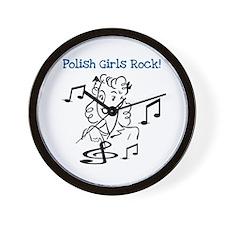 Polish Girls Rock Wall Clock