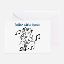 Polish Girls Rock Greeting Cards (Pk of 10)