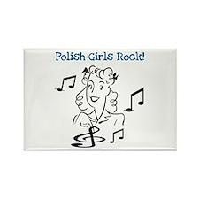 Polish Girls Rock Rectangle Magnet
