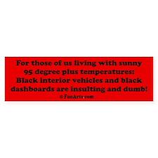 Black Interior Cars Bumper Sticker