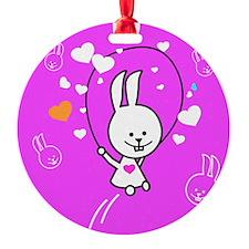 Cute Bunny Jumping Rope Ornament