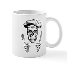 Knife and Fork Skull: White Mugs