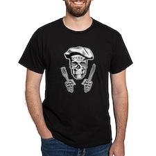 Knife and Fork Skull: White T-Shirt