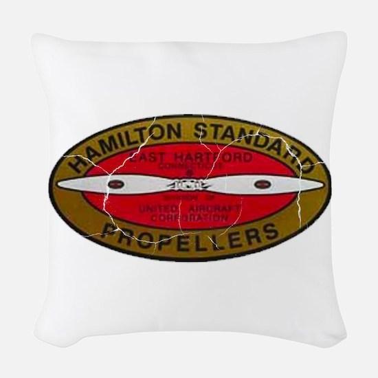 Retro Hamilton Standard Propellers Logo Woven Thro