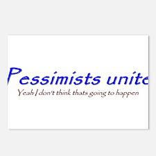 pessimists unite Postcards (Package of 8)