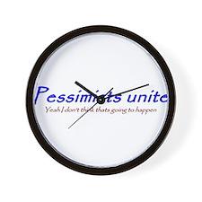 pessimists unite Wall Clock