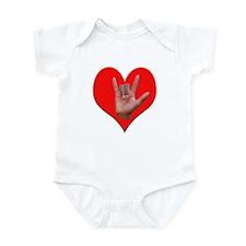 ILY Heart Infant Bodysuit