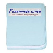 pessimists unite baby blanket
