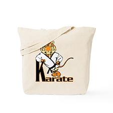 Karate Tiger Kid Tote Bag