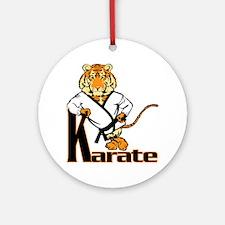 Karate Tiger Kid Ornament (Round)