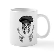 Knife and Fork Skull: Black Mugs