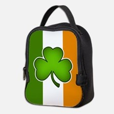 Irish Flag with Shamrock Neoprene Lunch Bag