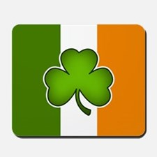 Irish Flag with Shamrock Mousepad