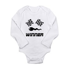 Cute Body humor Long Sleeve Infant Bodysuit