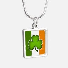 Irish Flag with Shamrock Necklaces