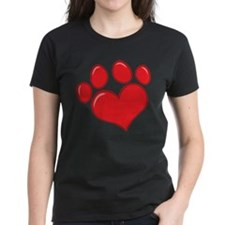 pet paw heart T-Shirt