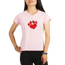 Pet Paw Heart Performance Dry T-Shirt