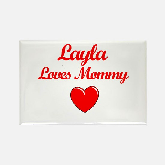 Layla Loves Mommy Rectangle Magnet