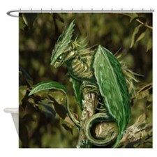 Earth Leaf Dragon Shower Curtain
