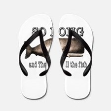 Funny Whale Flip Flops