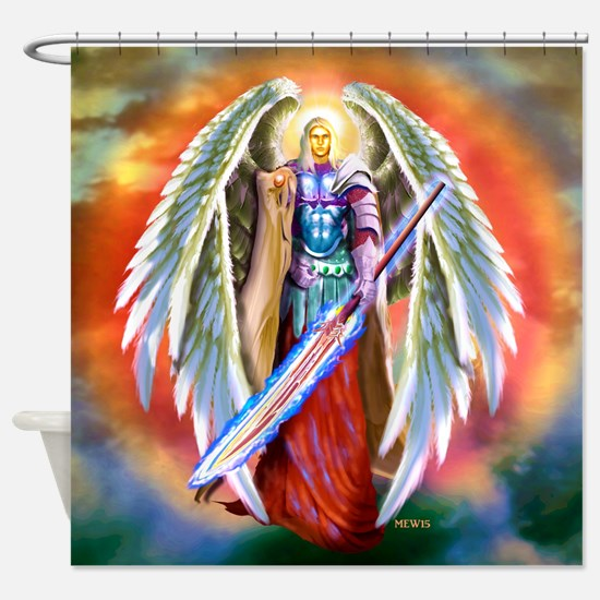 Angel Michael Shower Curtain