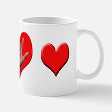 ASL ILY + Hearts Mug