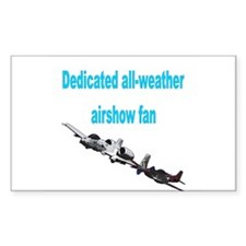 Airshow Fan Rectangle Decal