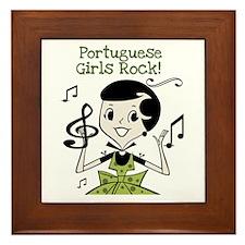 Portuguese Girls Rock Framed Tile
