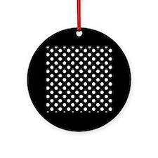 bw-polkadot.png Ornament (Round)