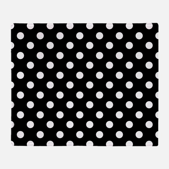 bw-polkadot.png Throw Blanket