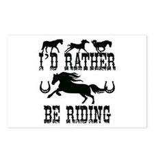 I'd Rather Be Riding Hors Postcards (Package of 8)