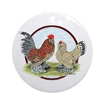 Belgian d'Uccle Bantams Ornament (Round)
