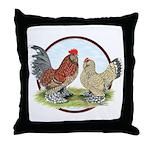 Belgian d'Uccle Bantams Throw Pillow