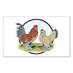 Belgian d'Uccle Bantams Rectangle Sticker