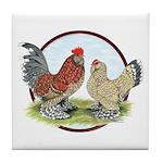 Belgian d'Uccle Bantams Tile Coaster