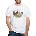 Belgian d'Uccle Bantams White T-Shirt
