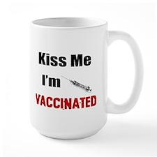 Kiss Me I'm Vaccinated Mugs