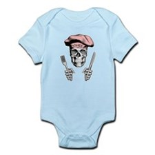 Knife and Fork Skull: Pink Body Suit
