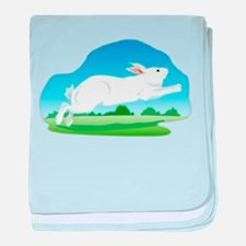 Leaping Rabbit in the Field baby blanket