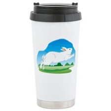 Leaping Rabbit in the F Travel Mug