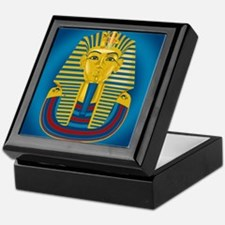 King Tut on Blue Keepsake Box