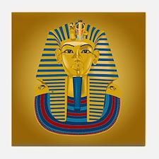 King Tut on Gold Tile Coaster