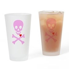 Pink Pirates Love Drinking Glass
