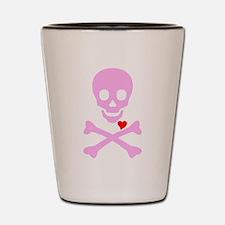 Pink Pirates Love Shot Glass